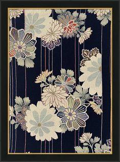 Japanese style flower Modern Interior Art Painting. Framed Print by ArtMarketJapan