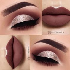 Gorgeous Makeup: Tips and Tricks With Eye Makeup and Eyeshadow – Makeup Design Ideas Makeup Eye Looks, Cute Makeup, Gorgeous Makeup, Skin Makeup, Eyeshadow Makeup, Pretty Makeup, Makeup Eyebrows, Makeup Brushes, Purple Eyeshadow
