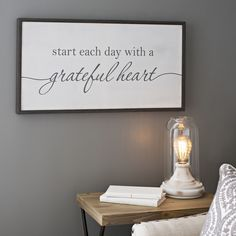 Grateful art for your grateful heart. Fill your home with inspiration. Hang this in your hallway for a daily reminder that you can choose a positive outlook each and every day.