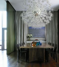 Feature light over dining table