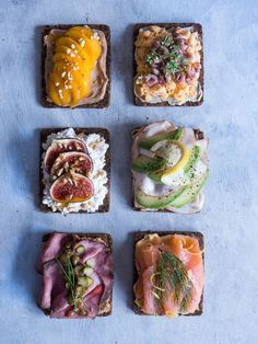 This is what 100 Calories of Healthy Food looks like Recipes Junkie Sandviç tarifi Swedish Cuisine, Danish Cuisine, Danish Food, Healthy Baking, Healthy Snacks, Healthy Recipes, Sandwiches, Tapas, Open Faced Sandwich