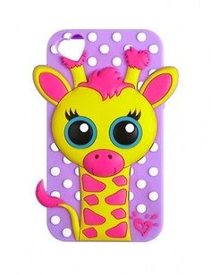 NEW! Justice Cute 3D Giraffe Animal Case Skin for iPod Touch 4 4G 4th Generation