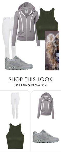 """""""Bored"""" by jaydababez ❤ liked on Polyvore featuring Topshop and NIKE"""