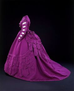 Afternoon dress, ca. 1869;
