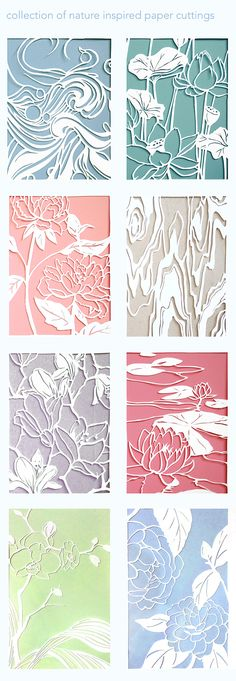 "Collection of 4.5x6"" Bristol cut outs"