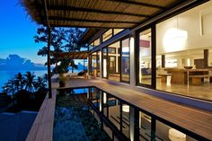 Luxury tropical beach villa on Koh Tao Island