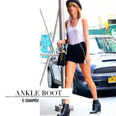 ankle boot + hat