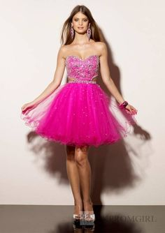 hot pink homecoming dresses  ... -Made Ruched Sweetheart Beaded ...