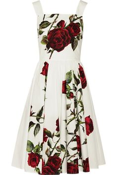 Dolce & Gabbana | Floral-print cotton-poplin dress | NET-A-PORTER.COM