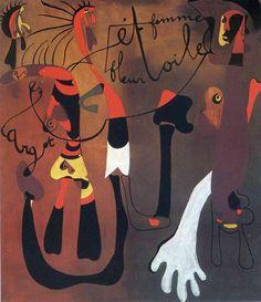 'schnecke frau blume Stern' von Joan Miro (1893-1983, Spain)