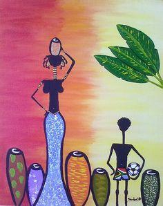 Fiz uma trilogia chamada 'Africanas'. Essa é uma das telas. Quem quiser ver as outras é só entrar na página www.flickr.com/sandrocp