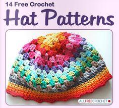 14 free crochet hat patterns