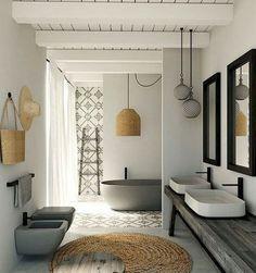 30 Incredible Farmhouse Master Bathroom Remodel Ideas