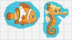 Schema punto croce Nemo
