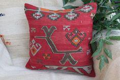 Turkish Cushion,Vintage Kilim Rug Pillow,Throw pillow,home decore pillow,pillow #Turkish