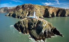 South Stack lighthouse in Anglesey. U.K.  In 1645 when lighthouses were privately owned, King Charles II was petitioned for a patent to build a lighthouse on South Stack. The request was refused. However, 143 years after the original petition, Trinity House leased South Stack island and construction of the lighthouse commenced.