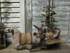 Direct From Folk Artist Sue Corlett~ I add new items every Sunday! Primitive Sheep, Christmas Ideas, Christmas Decorations, Santa And His Reindeer, Cute Goats, Holy Night, Primitive Christmas, Give Thanks, Primitives