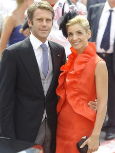 Emanuele Filiberto, Prince of Venice and Piedmont, heir of Vittorio Emanuele Prince of Naples, and his wife French actress Clotilde Courau