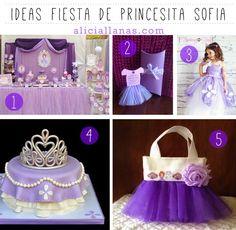 Ideas para una fiesta de Princesita Sofia ~ www.aliciallanas.com