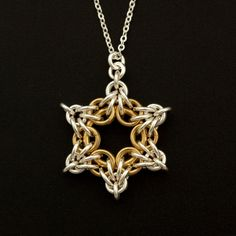 Sterling Silver and 14kt Gold Filled Star Bright Necklace
