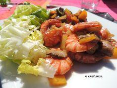 La cuisine en amateur de Maryline: Légumes, crevettes au wok