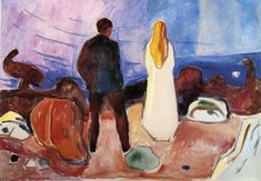 The Lonely Ones, 1935, Edvard Munch Size: 100x130 cm Medium: oil on canvas