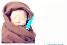 Our take on the jedi baby/star wars baby pics. Copyright Fall Child Photography 2013