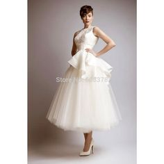 ankle length wedding dress - Google Search