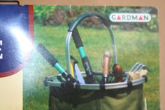 New Gardman 34598 Gardener's Mate Carry Mate Yard Tote Metal Handle Folds Flat #Gardman