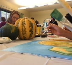 Imagination and creativity are an important part of healing! We're so grateful for the amazing volunteers who spent last Saturday with our resident in CA leading a painting class!