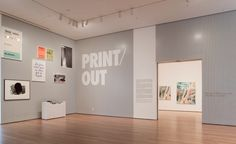 Print/Out at the MOMA - i love the white on grey - i also just love the grey