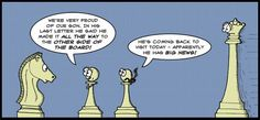 Pawn promotion.  Chess humor.