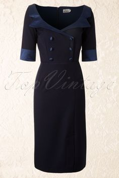 60's Shirt Dress in Navy. Top Vintage. I want this...