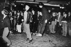 Pogoing at the Roxy in London, 1977.