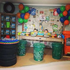 Garbage Truck Birthday Party Ideas | Photo 1 of 16 | Catch My Party                                                                                                                                                     More