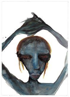 "IX (The Grey Series)   24"" x 18""   Watercolor"