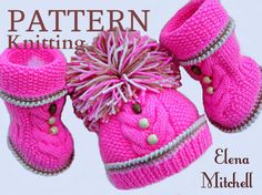 P A T T E R N Knitting Baby Set Baby Shoes Knitted por Solnishko43