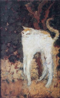 pinkpagodastudio: Pierre Bonnard - The White Cat 1894 (Haha haha what the legs) Pierre Bonnard, Animal Memes, Funny Animals, Arte Peculiar, Arte Indie, Arte Van Gogh, Weird Art, Aesthetic Art, Oeuvre D'art
