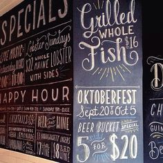 The newest #willletterforlunch post is up! Check it out to see a crazy amount of letters and a crazy amount of food. Also follow @willletterforlunch on Instagram to follow my culinary and chalk adventures!  #typography #lettering #handlettering #design #graphicdesign #chalk #chalkboard #chalklettering #chalkart #mural #menu #seafood #restaurant #brooklyn #nyc #food #thedailytype #goodtype #calligritype #happyhour #bar by homsweethom