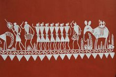 Orissa at a glance. Indian Folk Art, Indian Art Paintings, Art N Craft, Tribal Art, House Painting, Art Google, House Colors, Craft Stores, Foundation