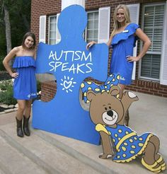 Alpha Xi Delta sisters wearing Revelry Scarlet Convertible Dress for Autism Speaks. We specialize in custom group orders. Visit us at greek.shoprevelry.com