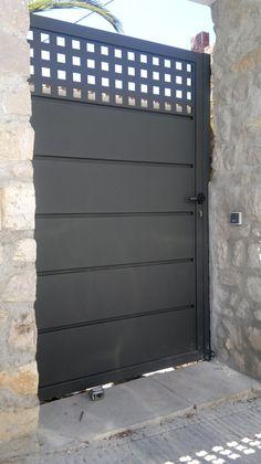 House Main Gates Design, Fence Gate Design, Steel Gate Design, Front Gate Design, Door Design, House Design, Modern Entrance, Modern Door, Entrance Gates