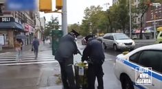 Must-See Video! NY Cops Dumping Gloves, Masks From Ebola Scene In Public Trash Can!!