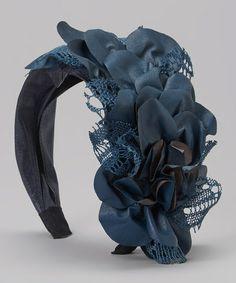 Blue Mesh Fascinator