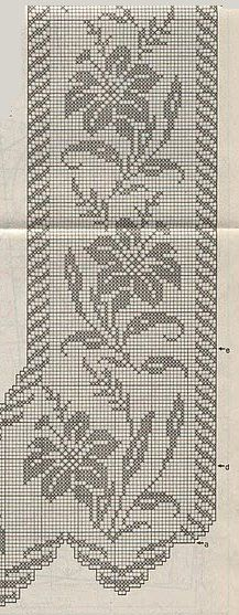 This Pin was discovered by ayi Filet Crochet, Crochet Borders, Cross Stitch Borders, Crochet Cross, Crochet Diagram, Crochet Chart, Thread Crochet, Crochet Motif, Cross Stitch Designs