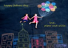 chalk pictures...makes great gifts