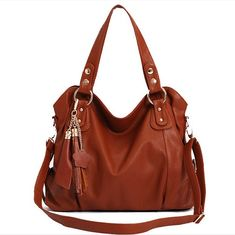 Fashion Dark Brown Tassel Handbag  Shoulder Bag