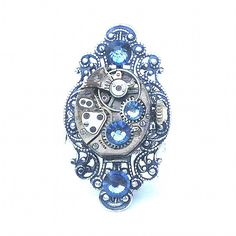 Stunning Steampunk Ring by Steampunkitis on Etsy https://www.etsy.com/listing/151427279/stunning-steampunk-ring