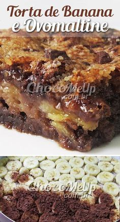 Nutrition And Nutrients Cake Recipes, Snack Recipes, Dessert Recipes, Cooking Joy, Banana Com Chocolate, Banoffee, Perfect Food, Yummy Snacks, Just Desserts