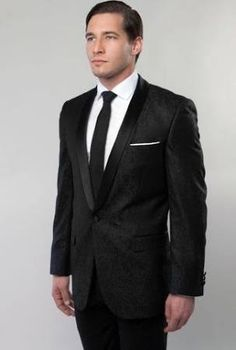 Shawl Colar Paisley Blazer Mens Tuxedo Jacket Slim Fit By Tazio True